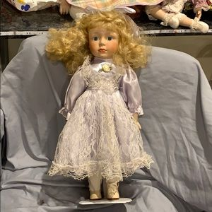 Young girl porcelain doll